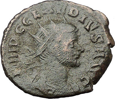 CLAUDIUS II Gothicus 268AD  Ancient Roman Coin Genius Protection Wealth i32452