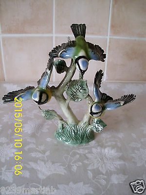 Vintage W Germany Goebel 1966 Lang 5 Blue Titmouse Trio Figurine Gloss Finish #1