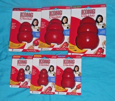 Classic Red Kong Dog Chew Toy all sizes XS, S, M, L, XL, XXL