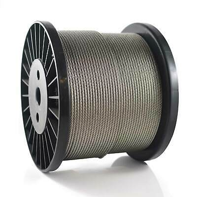 50M Marine Stainless Steel 316 Wire Rope Cable Balustrade Rail Decking 7x7 3.2mm