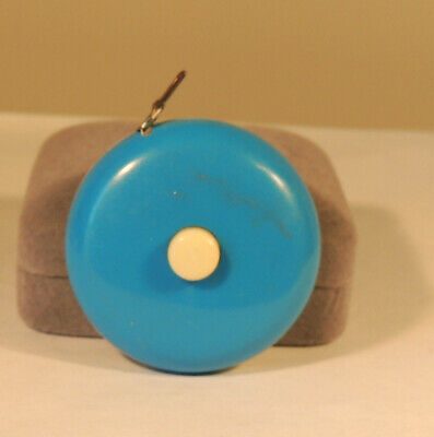 Blue and White push button Tape Measure (4460)