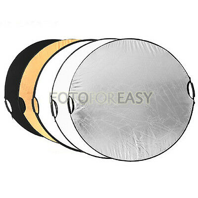 "43"" 5in1 Handheld Light Mulit Collapsible Disc Photograph Studio Reflector 110cm"