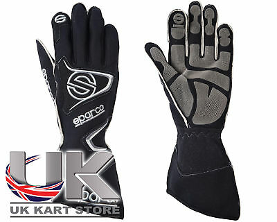 Sparco Tide K-9H Black Racing Gloves - Size XX-Small / 7 - For Kart, Motor bike