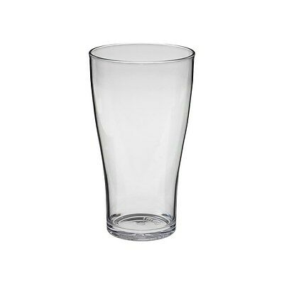 6 x Polycarbonate Beer Glass Schooner 285ml Stackable
