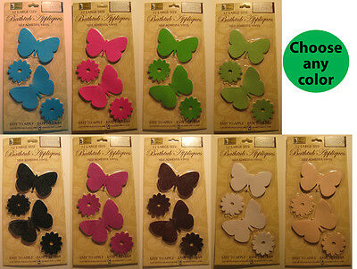 12 Butterfly Bath Tub Shower Appliques Safety No Slip Bathtub Treads - ANY COLOR