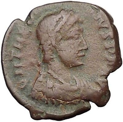 THEODOSIUS I the Great 388AD Ancient Roman Coin Military Camp Gate i32508