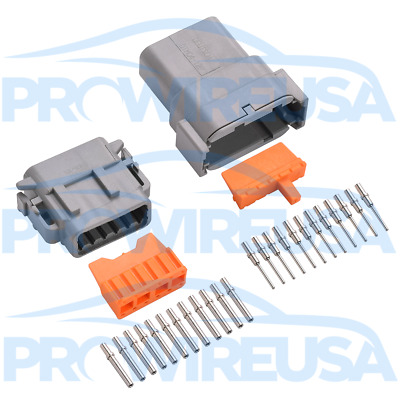 Deutsch DTM 12 Pin Connector Kit 22-18 AWG Nickel