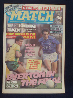 MATCH - EVERTON IN THE FINAL - Apr 22 1989