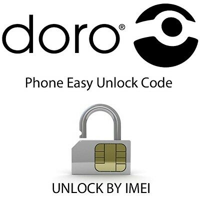 Unlock Codes for Doro Phone Models 345,409,409s,410,410s,610,610s Quick Response