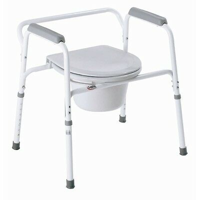 Bedside Steel Commode B35711 Bathroom Toilet Seat Safety Frame Medical Carex