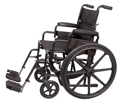 """18"""" Wheelchair Transport Portable Mobility Medical A227-00 Carex Foldable Chair"""