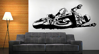 Pegatina de vinilo decorativo de pared Vinyl wall sticker Moto Bike6