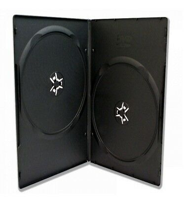 100 x 7mm 2 FACH BOX DVD SLIM HÜLLEN BLURAY BOX ZWEIFACH FILM MUSIK VIDEO HÜLLE