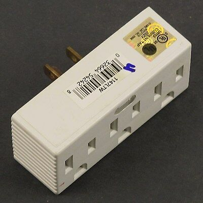 Cooper Wiring Devices Single-to-Triple 3-Wire Grounding Adapter- 1147LTW-SP-L