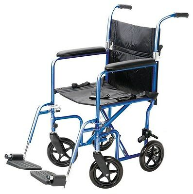 """19"""" Transport Chair Classic Portable Mobility Medical A336-77 Carex Wheelchair"""