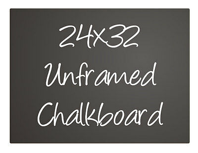 Black Menu Chalkboard Sign Chalk Board Unframed 24x32