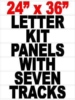 "Letter Track Panel For 24""x 36"" Signicade A Frame Sidewalk Sign"