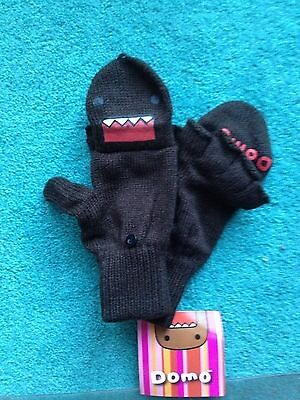 Brown Domo Knitted Fingerless Glove with Mitten Top