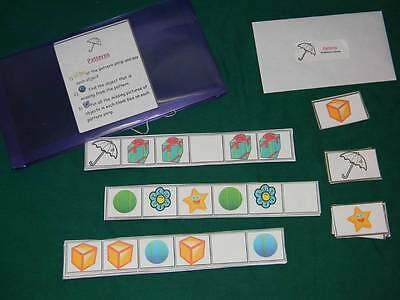 Patterns-Teacher Made Math Game-Classroom center-resource tool-learning activity