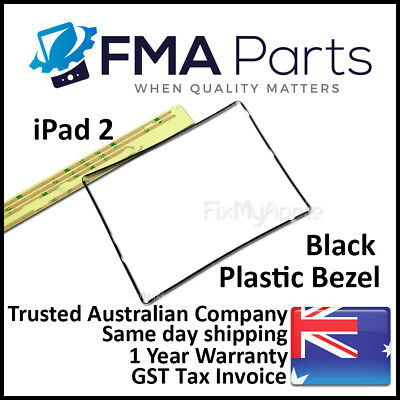 iPad 2 Black Bezel Plastic Middle Mid Frame Touch Screen Digitizer Replacement
