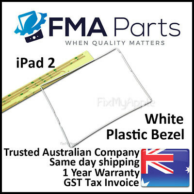iPad 2 White Bezel Plastic Middle Mid Frame Touch Screen Digitizer Replacement