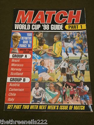 Match 1998 World Cup Guide #1 - Groups A & B