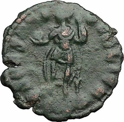 Julian II as Caesar in military dress w globe & spear 355AD Roman Coin i32781