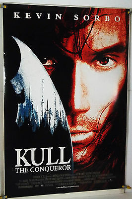 Kull The Conqueror Ds Rolled Orig 1Sh Movie Poster Kevin Sorbo Tia Carrere(1997)