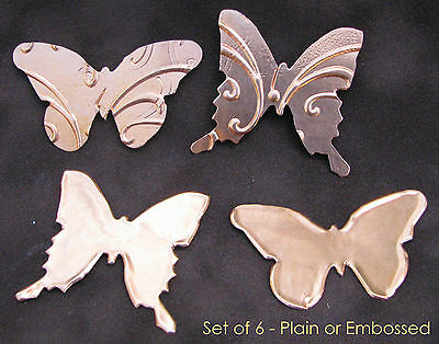 Copper Metal MINI BUTTERFLY Die Cuts [Set of 6] Card Embellish Punk Sizzix Stamp