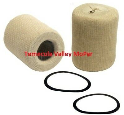"Set of 2 ""Sock-Type"" Oil Filter Cartridges for 1936-1953 Dodge & Plymouth Truck"
