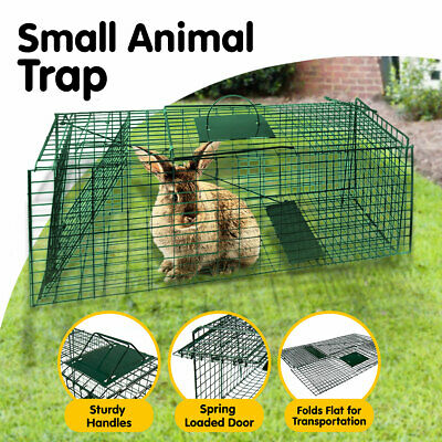 Humane Live Animal Trap Possum  Rat Feral Cat Rabbit Hare Catcher Folding Cage