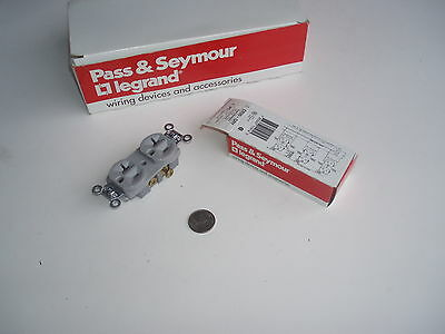 10 Pass and Seymour Legrand CR20-GRY special grade commercial duplex receptacles