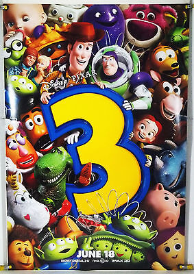 Toy Story 3 Ds Rolled Adv Orig 1Sh Movie Poster Pixar Tom Hanks Tim Allen (2010)