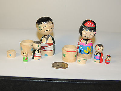 1950 Mom and Dad Nodder Set Made in Japan over 3 inches high (4815)