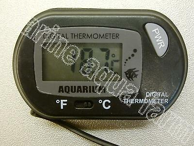 Aquarium Black Digital Thermometer, Reef, Marine, Fish, Tank, Water, Lcd, Coral