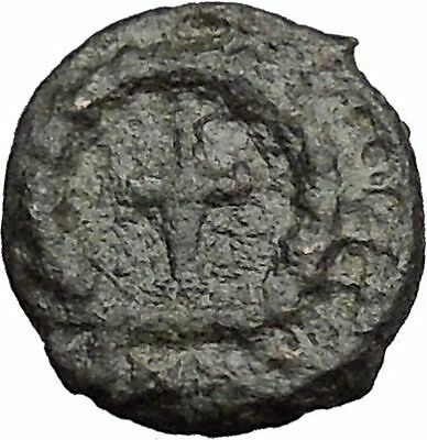 THEODOSIUS II 425AD  Ancient Roman Coin Cross within wreath of success  i32827