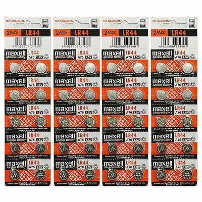 40x Maxell LR44 A76 AG13 357 303 SR44 L1154 Alkaline Battery Made in Japan NEW
