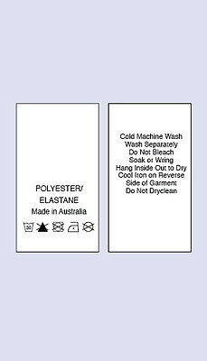 200 Polyster /Elastane MIA Sewing Washing Care Labels