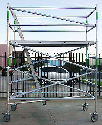 New Aluminium Scaffolding 450kg Mobile Scaffold - 4.5m Access Height