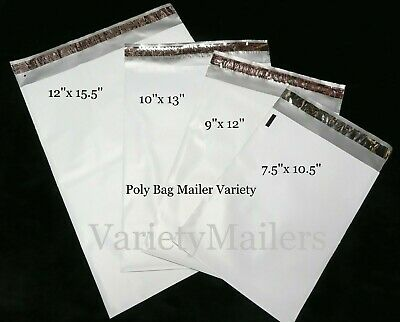 20 Poly Envelope Bag Assortment ~ 4 Sizes 2.5 Mil Self-Sealing Shipping Mailers
