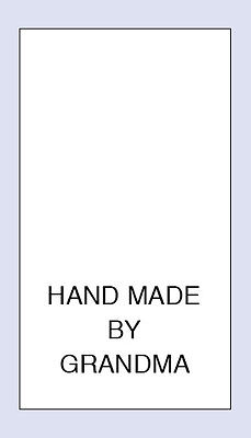 100 Hand Made by Grandma Sewing Washing Care Labels  Code PRNT0109