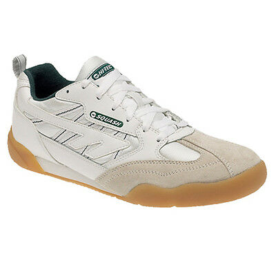 Mens Hi-Tec Indoor Sports Squash Tennis Gym Running Lace Up Leather Trainers