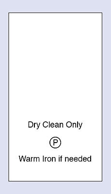 100  Dry Clean Only Sewing Washing Care Labels Code PRNT0011