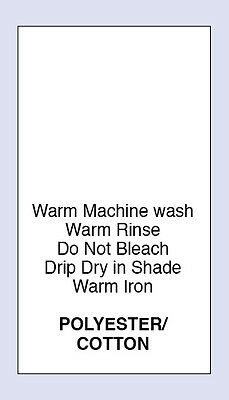 Polyester/Cotton Warm Machine Wash Care Labels Pack of  200 Code PRNT0078