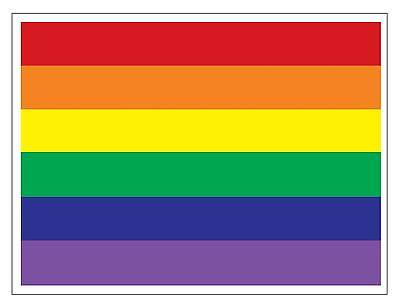 LGBT Gay Pride Lesbian Rainbow Flag Car Truck Sticker Decal FREE SHIPPING FLG53