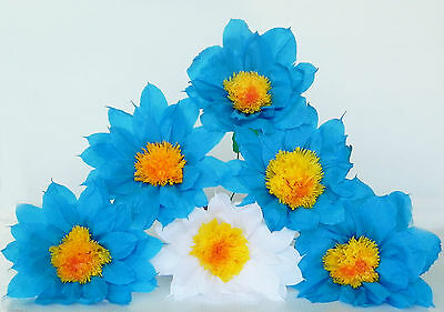 Mexican crepe paper flowers set of 6 blue white daisywe make mexican crepe paper flowers set of 6 blue white daisywe make special orders mightylinksfo