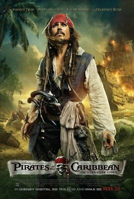 PIRATES OF THE CARIBBEAN ON STRANGER TIDES 2011 Original DS 2 Sided Movie Poster