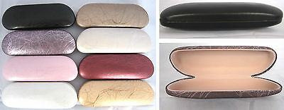 C16 Tree Rattan Pattern/Metal Hard Reading Glasses Case/PVC Faux Leather Covered