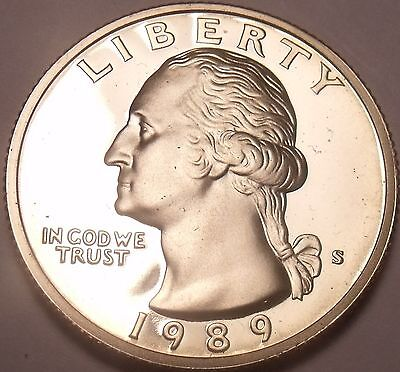 United States Proof 1989-S Washington Quarter~See Our Proof Coins~Free Shipping