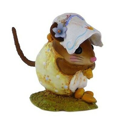 SPRING NIBBLE MOUSE by Wee Forest Folk, WFF# NM-1b, YELLOW